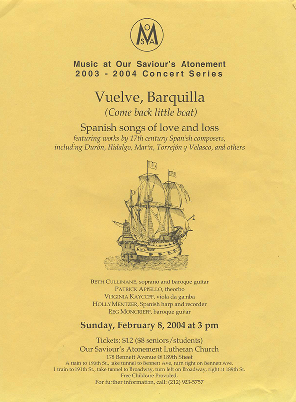 A Spanish early music program from 2004
